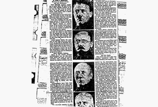 Вырезка из Газеты об Адольфе
